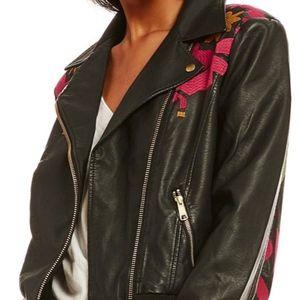 Free People Motorcycle Jacket XS - Vegan Leather